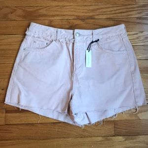 Topshop moto mom jean shorts